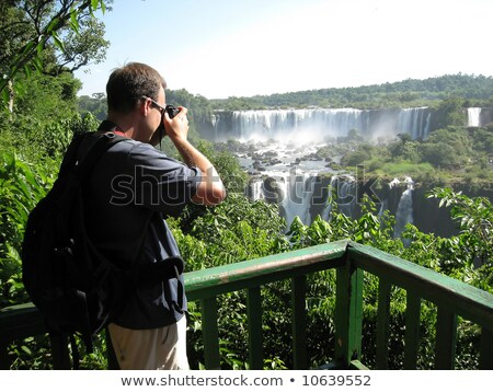Iguazu Falls seen from the River Parana stock photo © faabi