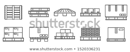 wooden shipping pallet Stock photo © Marfot