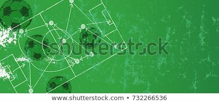 Grunge futbol futbol vektör spor soyut Stok fotoğraf © burakowski
