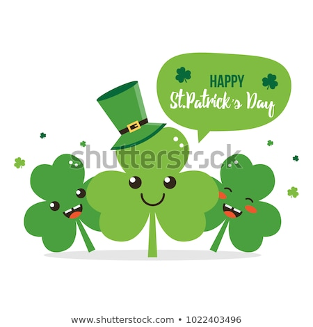 Cute nature card for St. Patrick's Day Stock photo © smeagorl