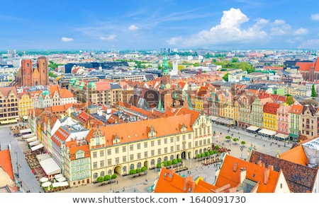 market square in old town of Wroclaw Stock photo © neirfy