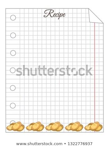 Recept levélpapír fa háttér klasszikus jegyzet Stock fotó © M-studio