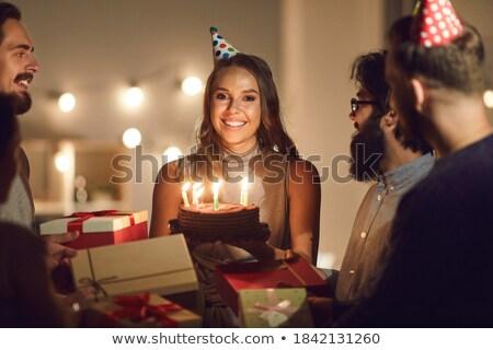 女性 · 友達 · 見える · ケーキ · カフェ · 渇望 - ストックフォト © candyboxphoto