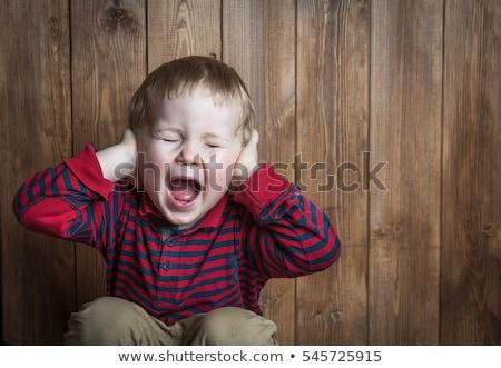 Cute мальчика гнева изолированный белый детей Сток-фото © bloodua