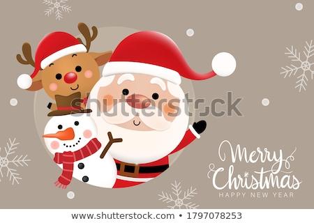 Photo stock: Bonhomme · de · neige · Noël · illustration · vecteur
