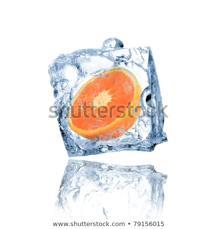 Orange in ice cube with drops Stock photo © Givaga