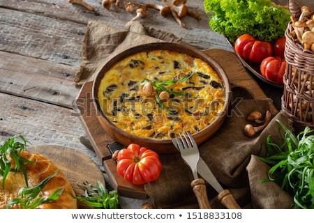 Stok fotoğraf: Mantar · peynir · kahvaltı · jambon · yemek · diyet