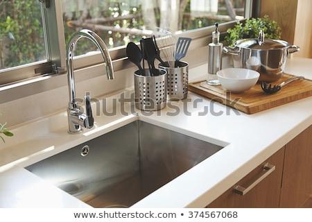 Kitchen Sinks Stock photo © silkenphotography