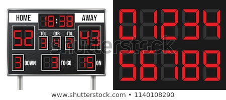 american football scoreboard with infographics stock photo © m_pavlov