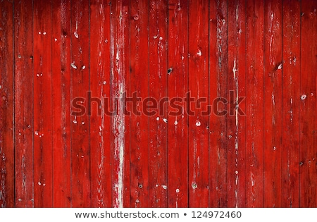 Old red painted wood wall  Stock photo © meinzahn