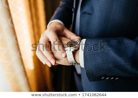 inteligente · homem · de · negócios · branco · camisas · braço - foto stock © meinzahn