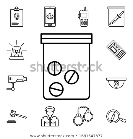Cure for Crime - Blister Pack Tablets. Stock photo © tashatuvango