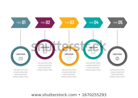 Infographic Layout for modern business data presentation and classification. Ideal for item or servi Stock photo © DavidArts