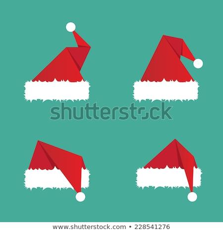 Рождества цвета иконки красный складе вектора Сток-фото © punsayaporn