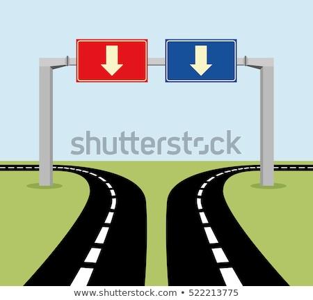 Solution on Red Road Sign. Stock photo © tashatuvango