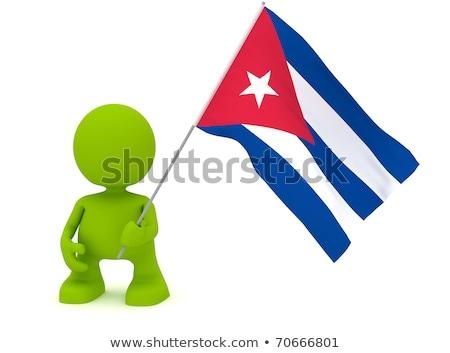 vlag · Cuba · textuur · achtergrond · kunst · teken - stockfoto © istanbul2009