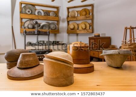 Handgemaakt hoeden Panama variëteit kleuren verkoop Stockfoto © rhamm