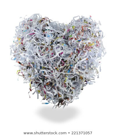 paper heart is cut into shredder stock photo © voysla
