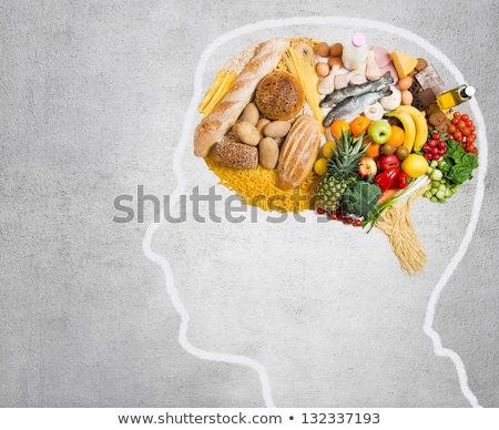 мозг здоровое питание энергии изолированный черный Сток-фото © Klinker