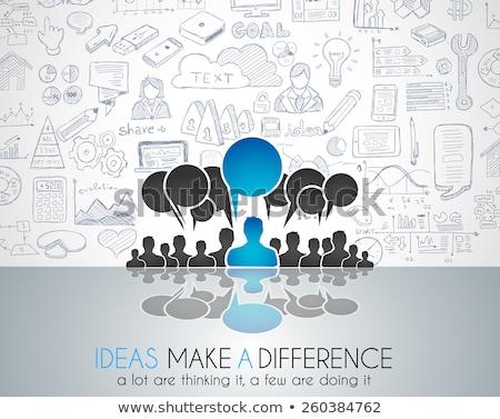 Teamwork Brainstorming communication concept art. Stock photo © DavidArts
