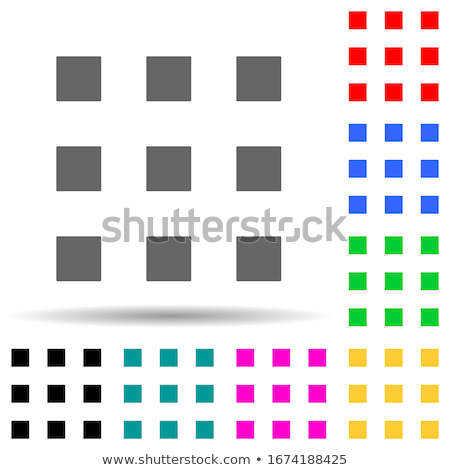 Protection Web Internet Square Vector Violet Icon Design Set Stock photo © rizwanali3d