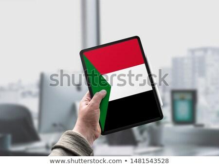 Tablet Soedan vlag afbeelding gerenderd Stockfoto © tang90246
