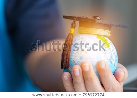 Affaires graduation diplôme certificat souriant Photo stock © anbuch
