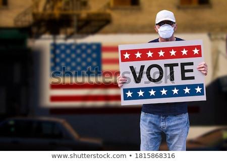 american election hand stock photo © lightsource