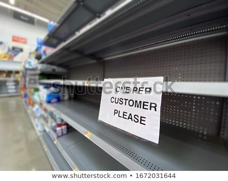 Empty shelves in  shop Stock photo © Paha_L