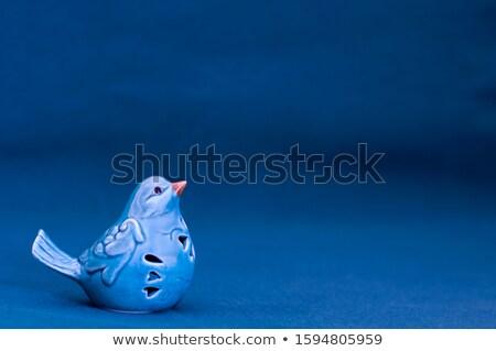 Porcelán madarak kék Stock fotó © artfotoss