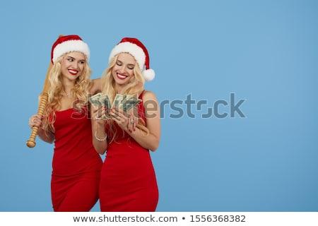 gêmeo · meninas · dólares · negócio · família - foto stock © Paha_L