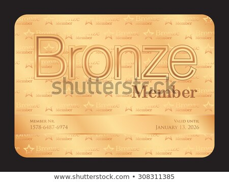 Bronze member club card with small stars pattern Stock photo © liliwhite