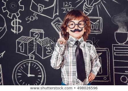 Сток-фото: учитель · пер · изолированный · белый · бизнеса