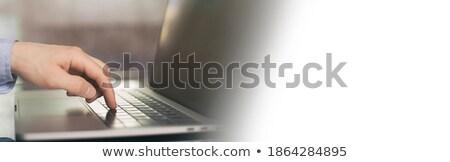 Online tanul személy kattintás billentyűzet gomb Stock fotó © tashatuvango