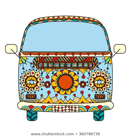 Vintage car in zentangle stock photo © frescomovie