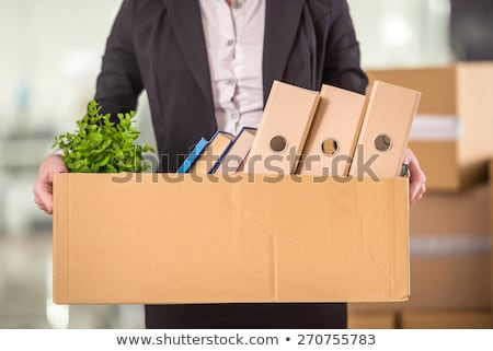 Mosolyog üzletasszony iroda alulról fotózva kilátás ablak Stock fotó © wavebreak_media