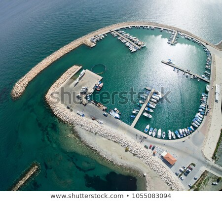 yachts and fishing boats moored in larnaca marina cyprus stock photo © kirill_m