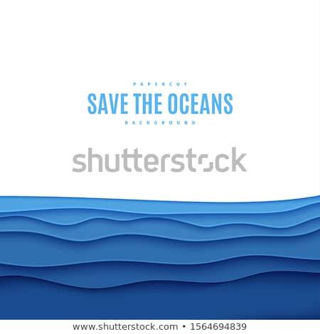 Underwater world cover design, vector illustration Stock photo © carodi