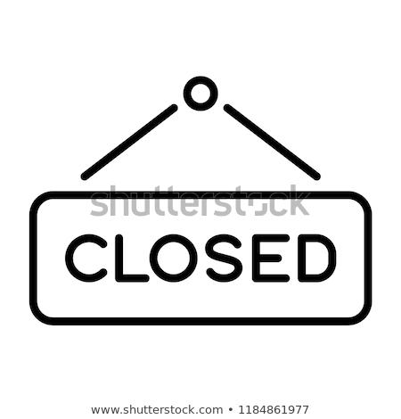 オープン · ボード · 実例 · ストア · 情報 - ストックフォト © rastudio
