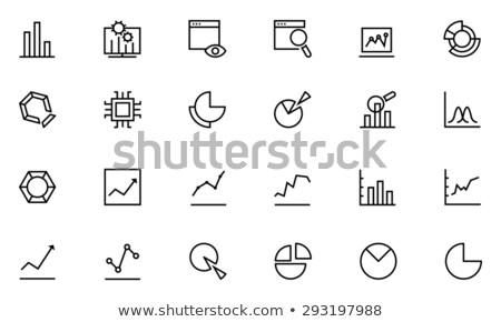 monitor with business graphs line icon stock photo © rastudio