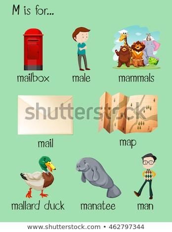 Letra m e-mail ilustração papel fundo arte Foto stock © bluering
