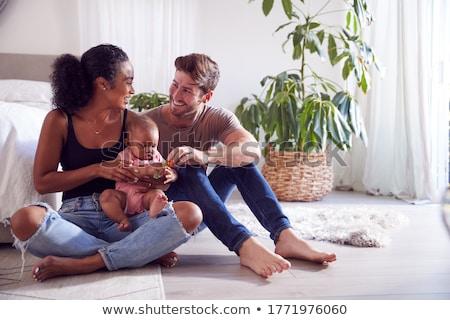 ребенка мужчины греметь иллюстрация синий смешные Сток-фото © adrenalina