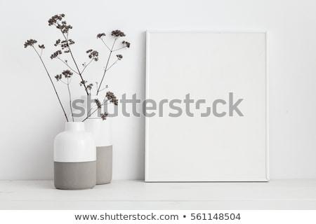 Blank square poster as copy space for mock up design Stock photo © stevanovicigor