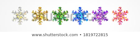 Snowflake sticker Stock photo © sifis