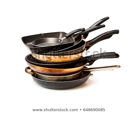 Old and dirty frying pan isolated  Stock photo © michaklootwijk