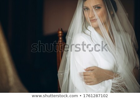 beautiful smiling bride wedding portrait fashion girl with bouq stock photo © victoria_andreas