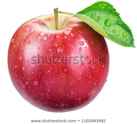 pomme · rouge · gouttes · d'eau · peu · profond · alimentaire · nature - photo stock © serg64