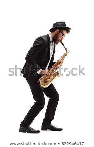 golden saxophone on white background stock photo © bluering