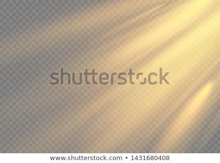 establecer · transparente · dorado · luz · efecto · sol - foto stock © beholdereye