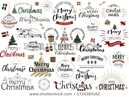 christmas drawn vector set stock photo © m_pavlov